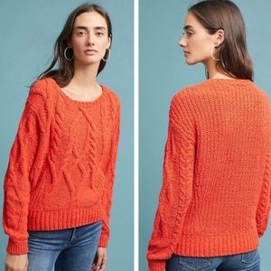 Sleeping on Snow Cabled Chenille Pullover